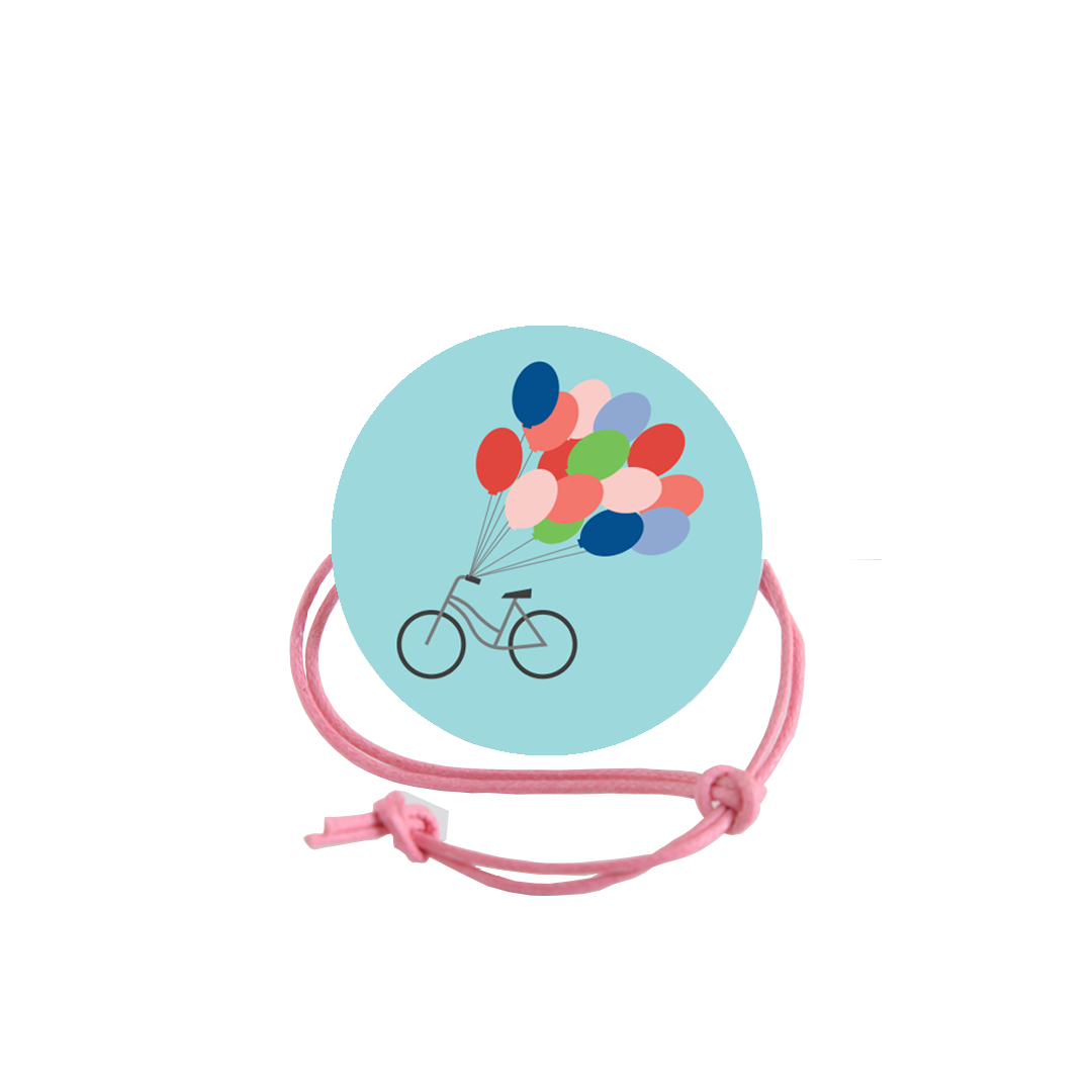 Bike with Balloons Napkin Knot Product Image