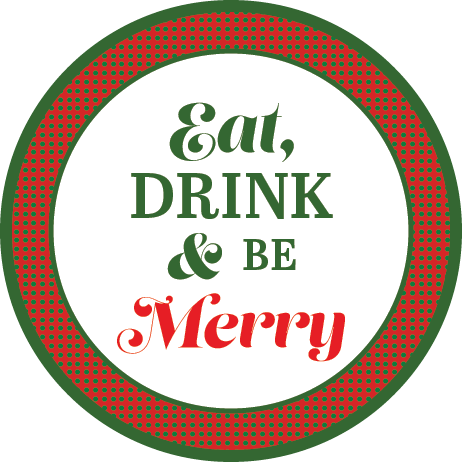 Eat Drink & Be Merry Napkin Knot (Qty:10)