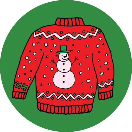 cartoon christmas sweater christmas decore handprint vector free handprint vector pattern