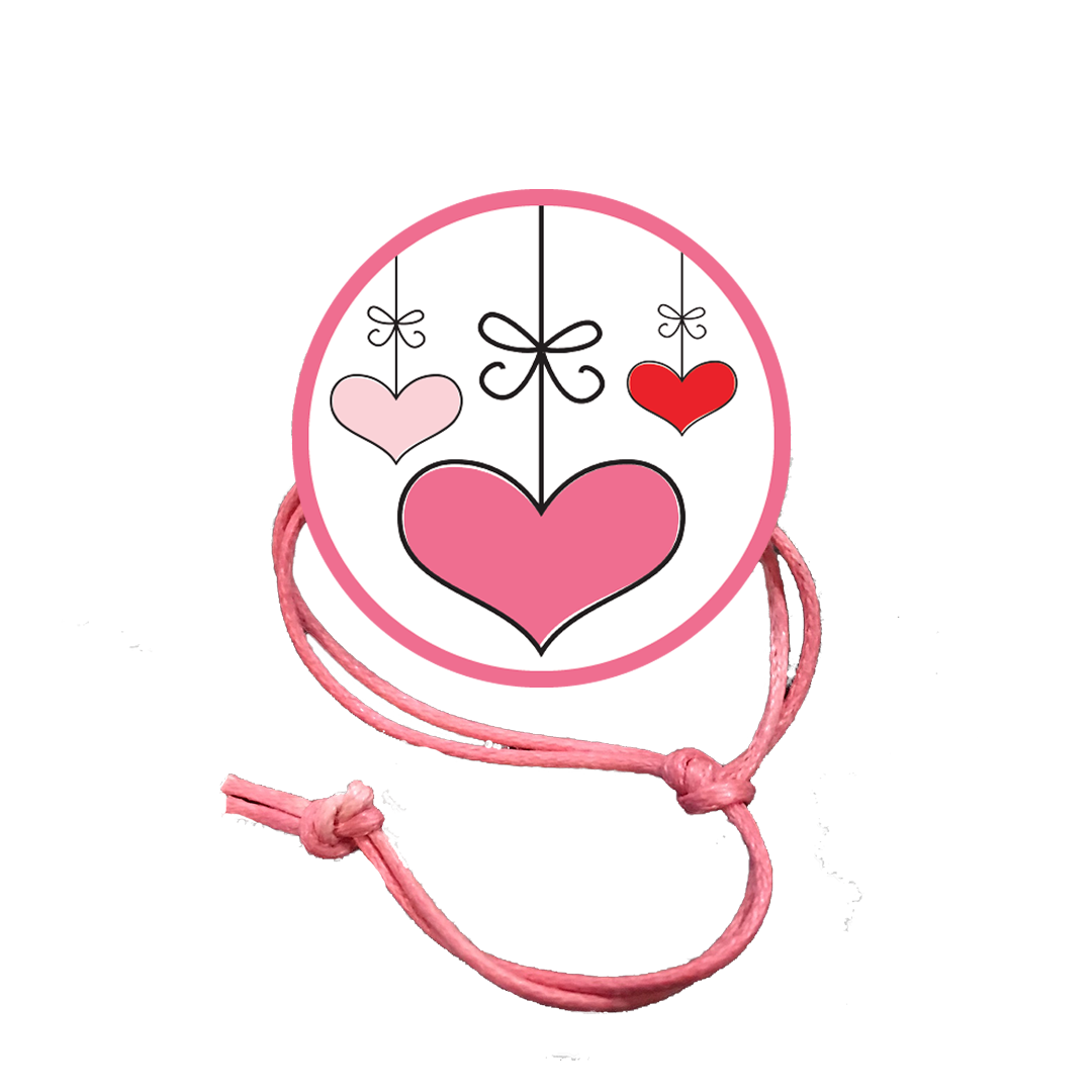 Valentine's Day Napkin Knot - Hanging Hearts (Qty:10) Product Image