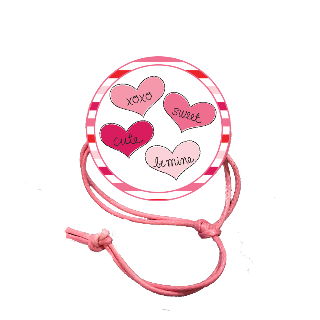 Valentine's Day Napkin Knot - Striped Border (Qty:10) Product Image