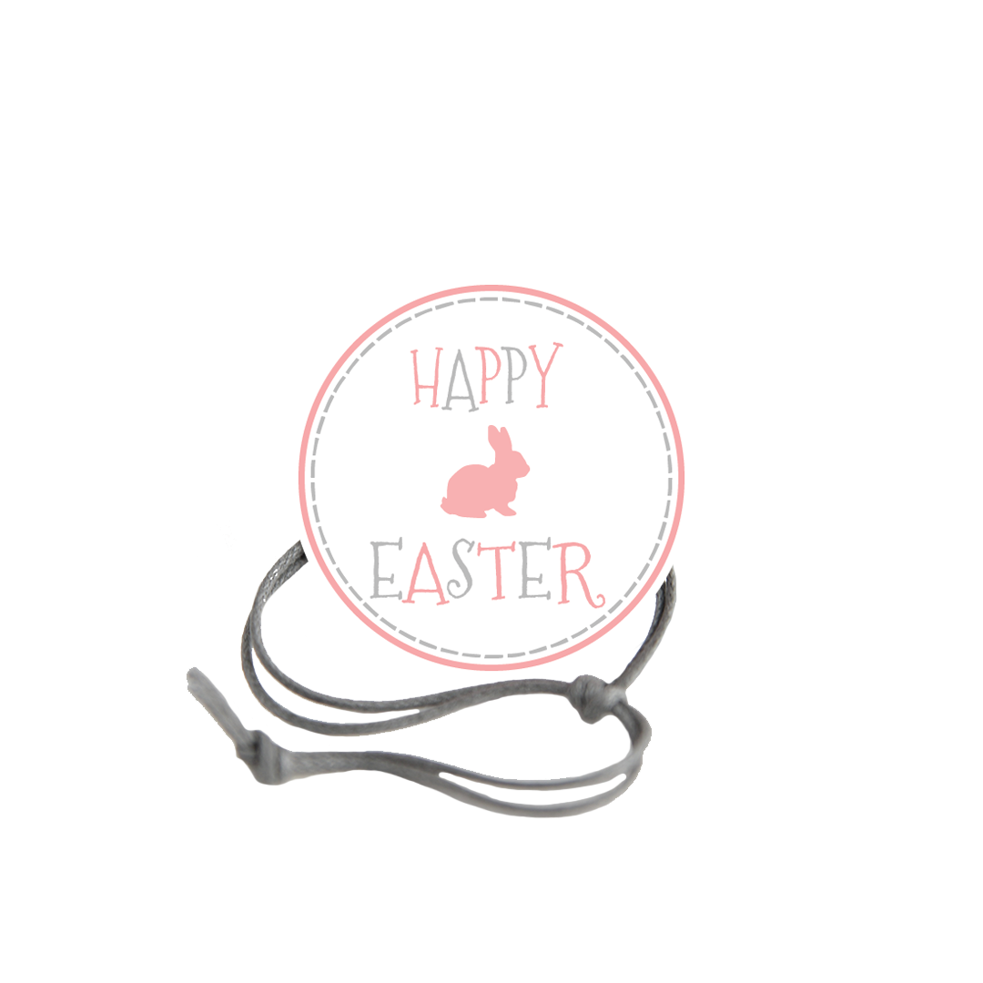Easter Gray Dashed Border Napkin Knot Product Image