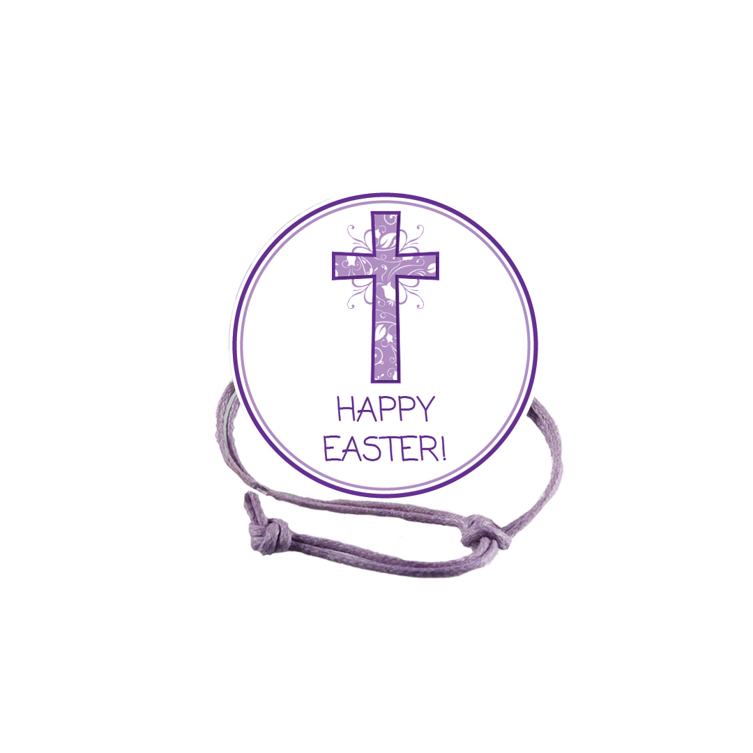 Easter Purple Cross Napkin Knot Product Image