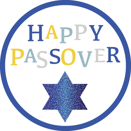 Happy Passover Blue Star Napkin Knot (Qty:10)