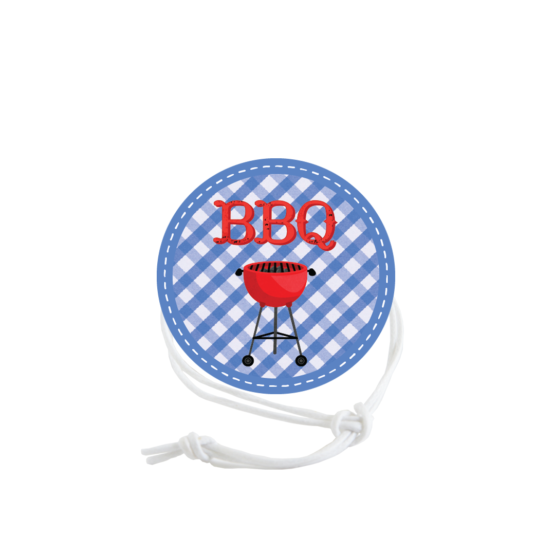 BBQ Napkin Knot - Blue Check Product Image