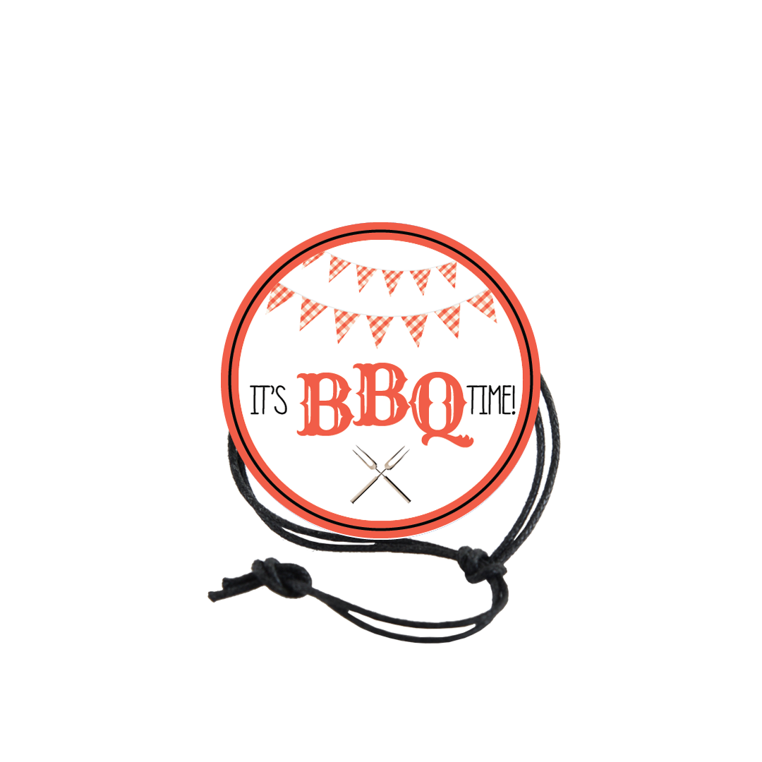 BBQ Napkin Knot - Red Pennants Product Image