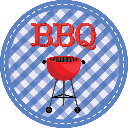 BBQ Napkin Knot - Blue Check (Qty:10)