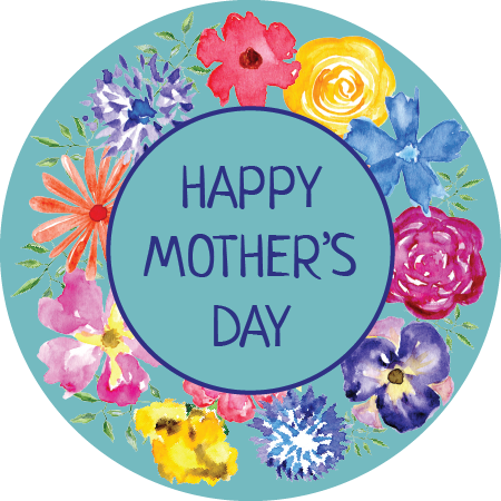Mother's Day Napkin Knot - Flower Border (Qty:10)