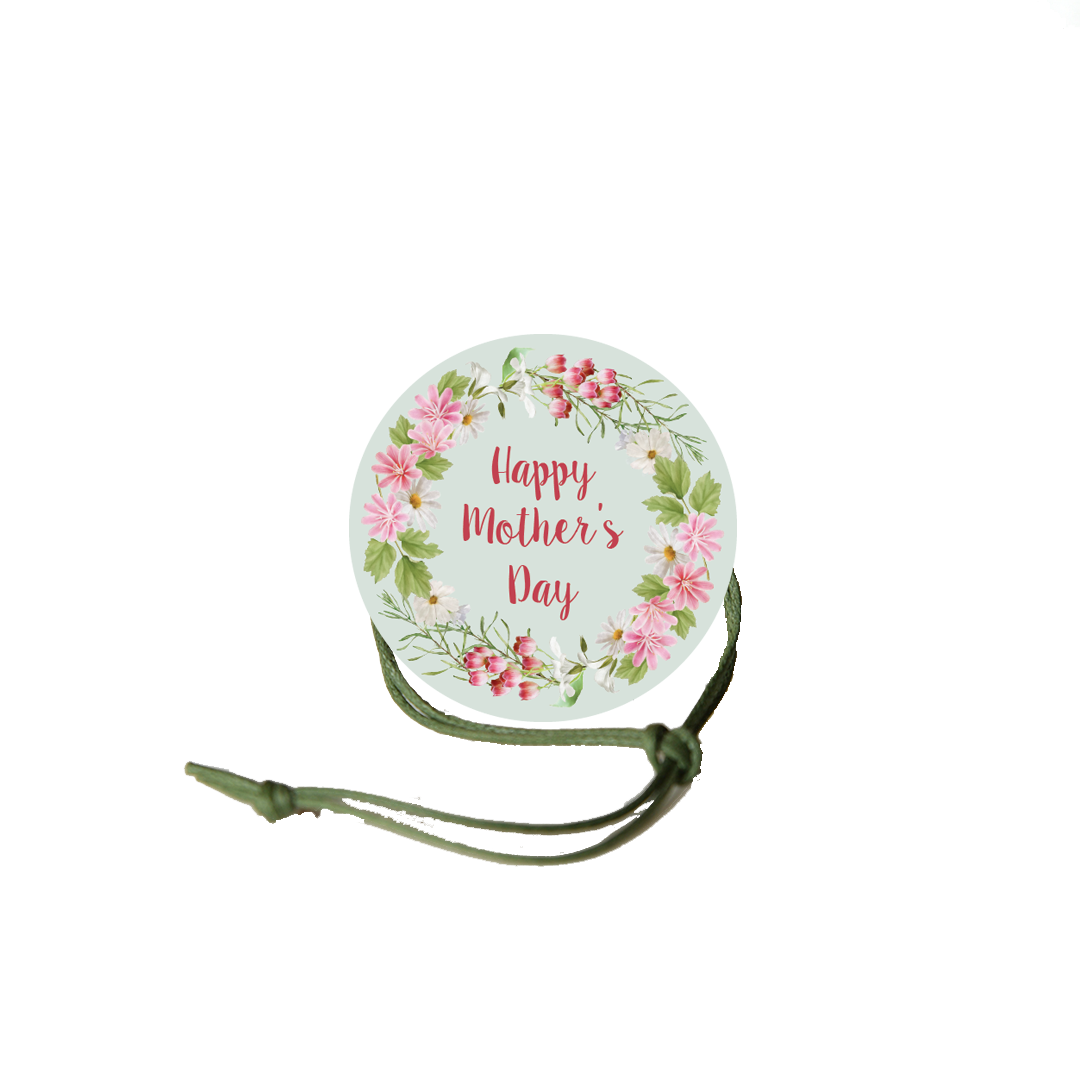 Mother's Day Napkin Knot - Pink Flower Border (Qty:10) Product Image