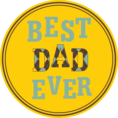 Father's Day Napkin Knot - Best Dad Ever (Qty:10)