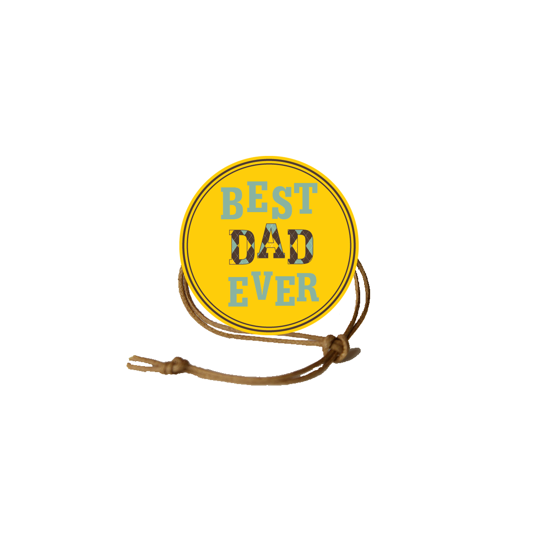 Father's Day Napkin Knot - Best Dad Ever (Qty:10) Product Image