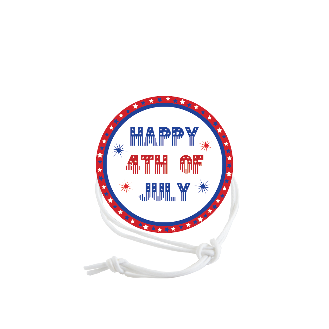 Patriotic Napkin Knot - Happy 4th of July (Qty:10) Product Image