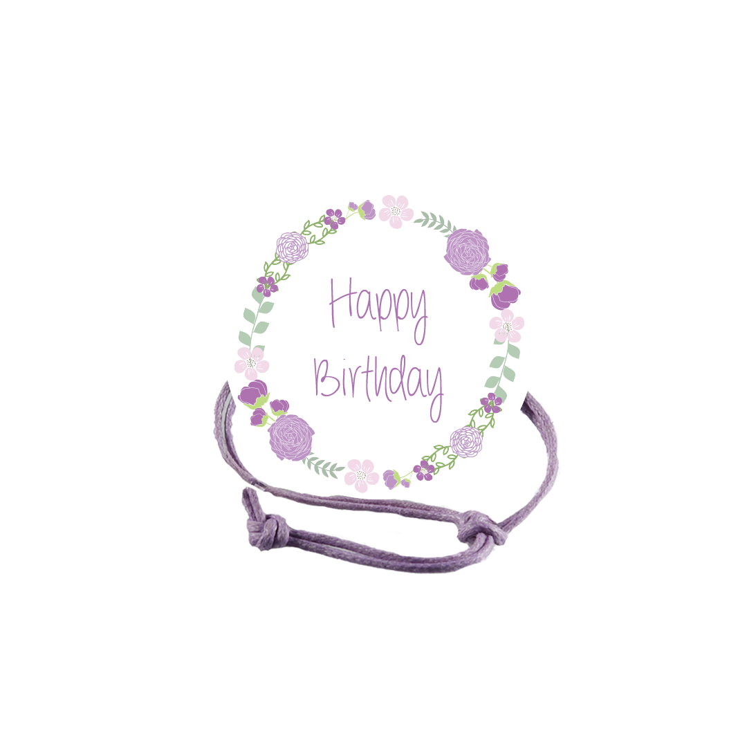 Birthday Napkin Knot - Purple Flowers Product Image
