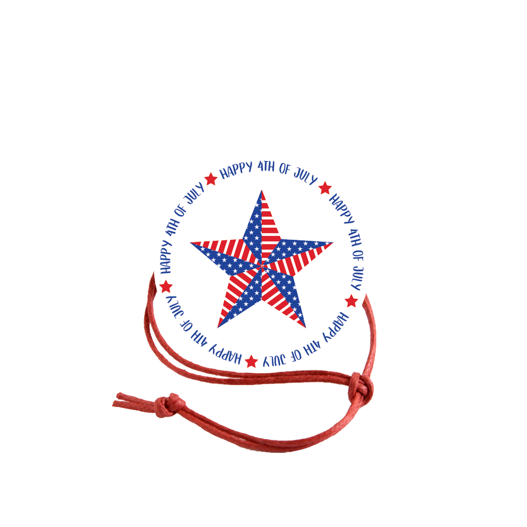 Patriotic Napkin Knot - Star (Qty:10) Product Image