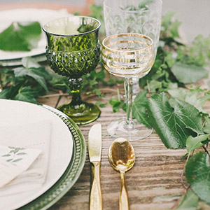 Green-accented Place Setting